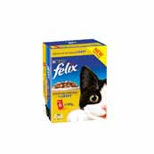 Felix Pouch Chunks In Gravy Chicken and Kidney 6 x 100g Cat Food
