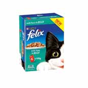 Felix Pouch Chunks In Jelly Tuna 6 x 100g Cat Food