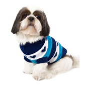 Urban Pup Blue Hearts Striped Dog Sweater 30 35cm