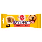 Pedigree Medium Jumbone Dog Treat with Beef 2 Pack