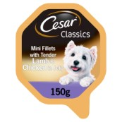 Cesar Adult Foil Tray Dog Food in Delicate Jelly with Tasty Lamb and Chicken 150g