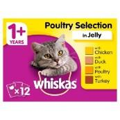 Whiskas Adult Pouches in Jelly 100gm 12 Pack