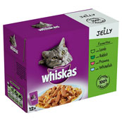 Whiskas Mixed Cat Food Favourites in Jelly 12x100g