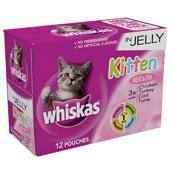 Whiskas Kitten Pouch Meat & Fish in Jelly 100gm 12 Pack