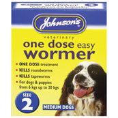 Johnson's One Dose Easy Worming Tablets Size 2 for Dogs up to 20kg