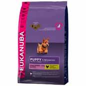 Eukanuba Small Breed Complete Puppy Food with Chicken 3kg