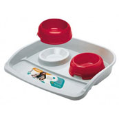 Lindo Feeding Station with 2 Bowls for Cats and Dogs