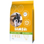 Iams Puppy and Junior Small and Medium Breed Rich Chicken 1kg (Online Only)