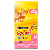 Go-Cat Complete Kitten Food with Chicken, Carrots & Milk Nuggets