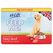 Hilife Moist Menus Complete Dog Food with Beef & Cheese