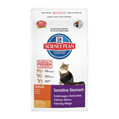 Hills Science Plan Feline Adult Sensitive Stomach Chicken with Egg and Rice