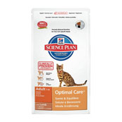 Hills Science Plan Feline Adult Optimal Care with Lamb