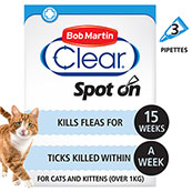 Bob Martin Flea Clear Spot On Solution for Cats Over 1kg
