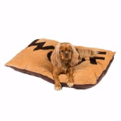 Tan Woof Embossed Dog Doza (Online Only)