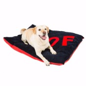 Navy Woof Embossed Dog Doza (Online Only)