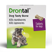 Drontal Flavour Plus Bone Shaped Worming Tablet for Dogs