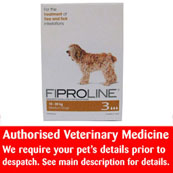 Fiproline spot on flea and tick treatment for Medium Dogs (10kg - 20kg)
