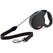 Black Classic Long Extending Dog Lead