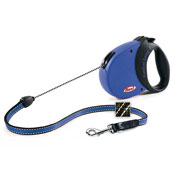 Comfort Grip Blue Long Extending Dog Lead