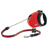 Comfort Grip Red Long Extending Dog Lead