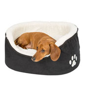 Teddy Oval Bed Black