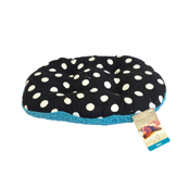 Oval Cushion Polka/Aqua