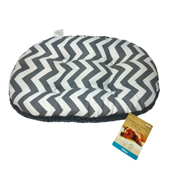 Oval Cushion Grey