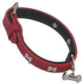 Red Bones Faux Leather Collar