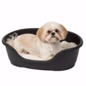 Ruffer and Tuffer Hard Plastic Dog Bed Black