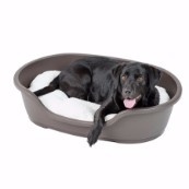 Ruffer and Tuffer Hard Plastic Dog Bed Chocolate