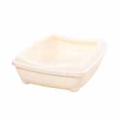 Rimmed Litter Tray Antique White