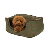 Wainwright's Green Check Square Dog Bed