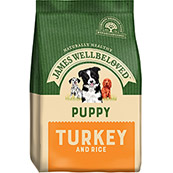 James Wellbeloved Complete Puppy Food with Turkey & Rice