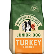 James Wellbeloved Complete Junior Dog Food with Turkey & Rice