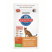 Hill's Science Plan Optimal Care Adult Cat Food with Rabbit