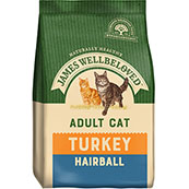 James Wellbeloved Hairball Adult Cat Food with Turkey