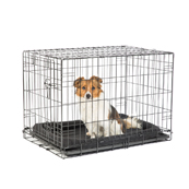 Black Epoxy Coated Dog Crate
