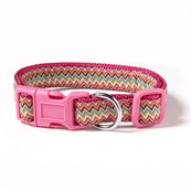Multi Chevron Nylon Dog Collar