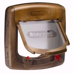 Image for Wood Effect Infra Red 4 Way Locking Cat Flap 520 from Pets At Home