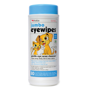 Image for Jumbo Eye Wipes 80 Wipe Tub from Pets At Home