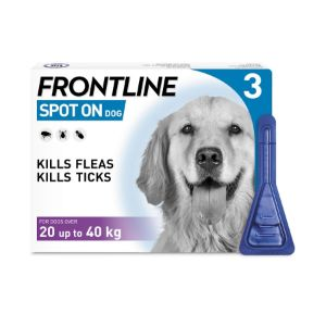 Image for Frontline Spot On Flea Drops for Large Breed Dogs and Puppies (20-40kg) 3 x 2.68ml from Pets At Home