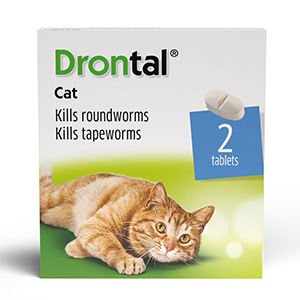Image for Drontal Worming Tablets 2 Pack for Cats from Pets At Home