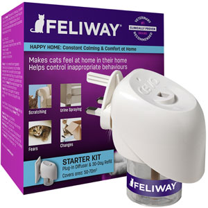 Image for Feliway Cat Comforting Pheromone Diffuser from Pets At Home