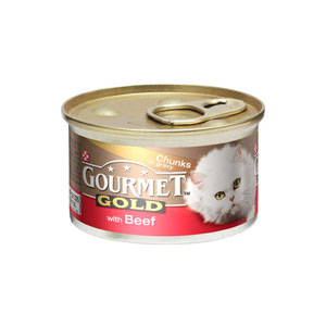 Image for Gourmet Gold Cat Food with Beef in Gravy Cat Food 85g from Pets At Home