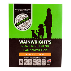 Image for Wainwright's Adult Tray Dog Food with Lamb & Rice 395gm from Pets At Home