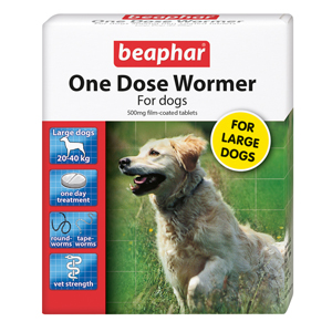 Image for One Dose Wormer for Large Dogs from Pets At Home