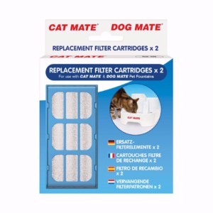 Image for Replacement Filter Cartridges x 2 for Cat Mate and Dog Mate Fountains from Pets At Home