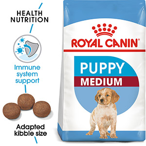 Image for Royal Canin Medium Breed Puppy and Junior Dog Food 10kg (Online Only) from Pets At Home