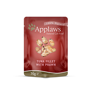 Image for Applaws Tuna Fillet and Pacific Prawns cat food 70gm from Pets At Home