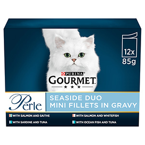 Image for Gourmet Perle Seaside Duos Pouch 12 x 85g from Pets At Home